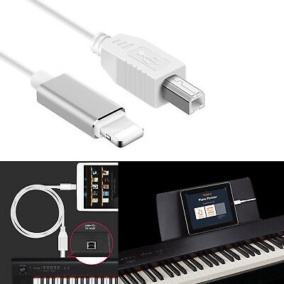 Lightning to Type-B MIDI Keyboard Converter USB 2.0 Cable for iPhone iPad X iPad