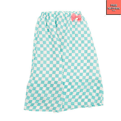 PAESAGGINO Maxi A-Line Skirt Size 4Y Checked Bow Detail Made in Italy