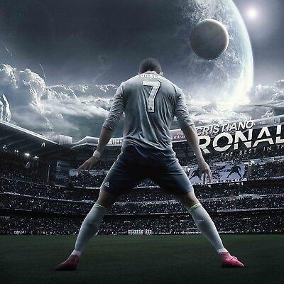 Cristiano Ronaldo Poster Wall Decoration Photo Print 24X24 Inches