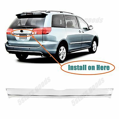 2004 Chrome Trim Accessory (Accessory Chrome Rear Trunk Molding Cover Trim For 2004-2010 Toyota)
