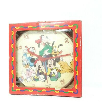 Vintage Disney Mickey for Kids ~ Analogue wall Clock Mickey, Goofy, Donald Duck