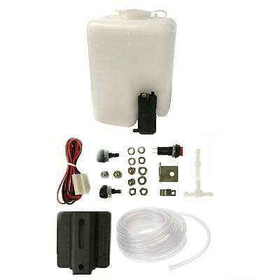 12V Washer Water Pump Kit Set - Bottle, Pump, Joiners, Tube & Switch For Van MPV