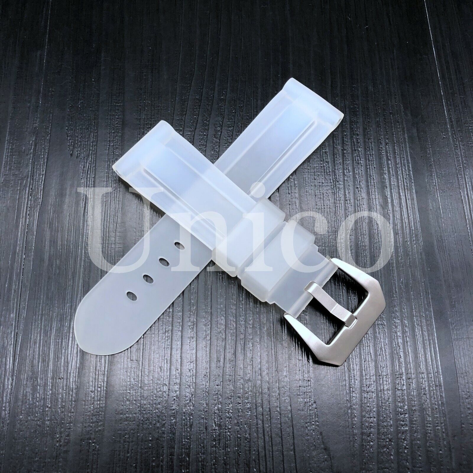22 MM Clear Rubber Silicone Strap Band Soft Vintage Replacem