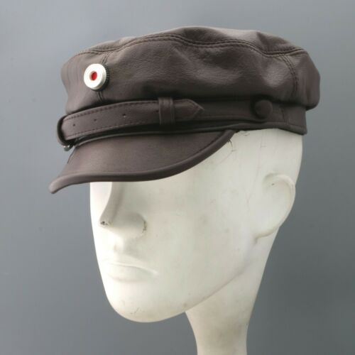 Replica  Prussia  Austro Hungarian Locomotive Hunter Captian Leather Crush Hat