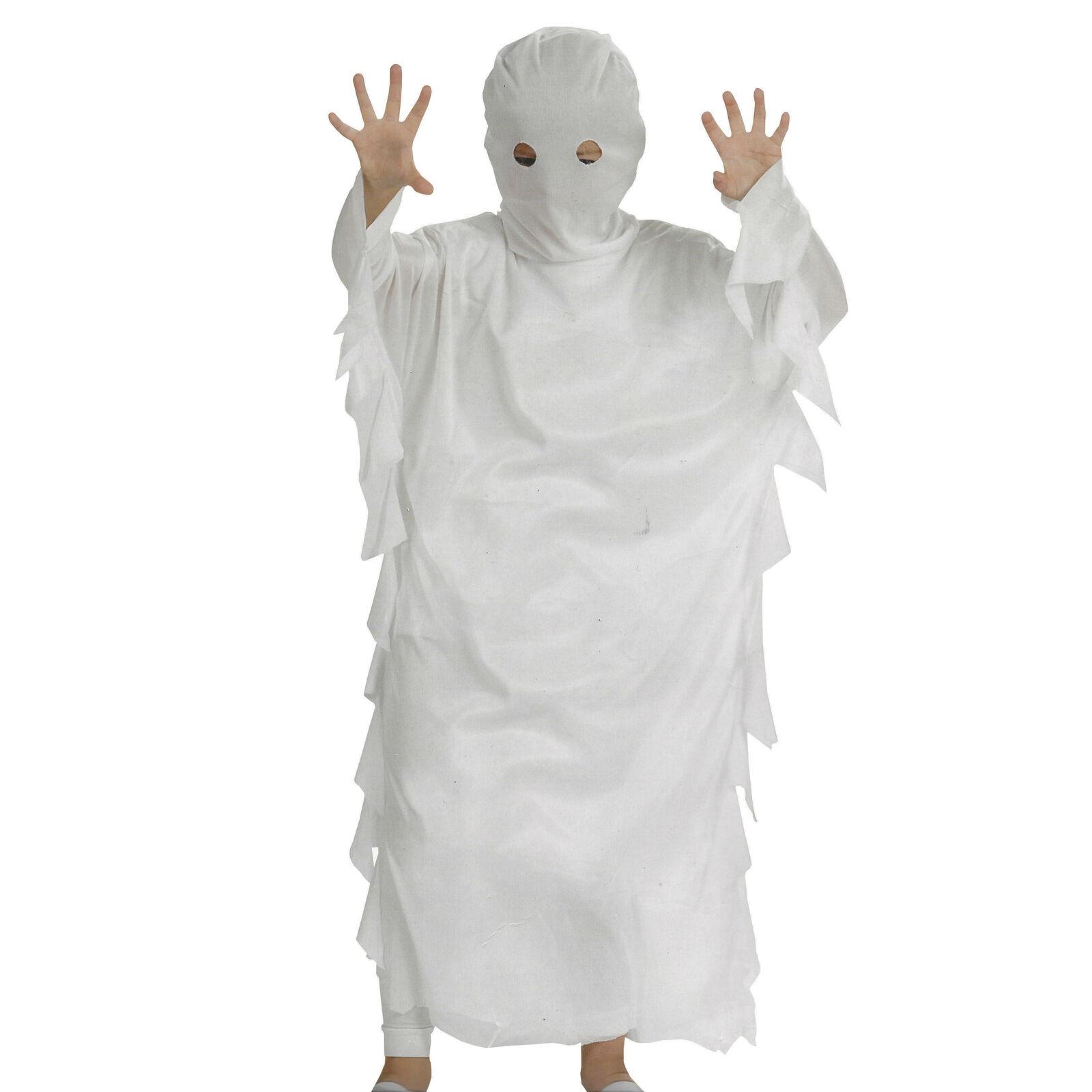 Geist Kinder Halloween Karneval Kostüm Gespenst Horror Geisterkostüm Weiß