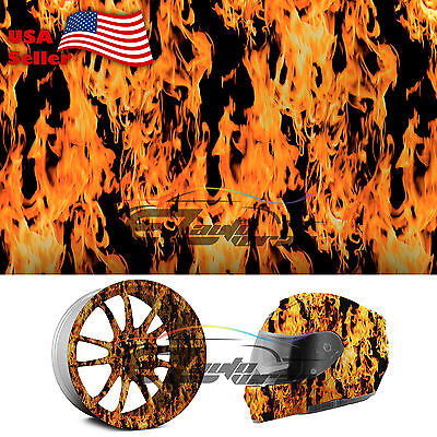19x38 Hydrographic Film Hydro Dipping Water Transfer Red Fire Flame 15