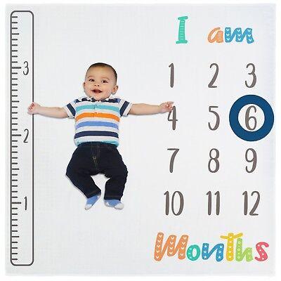 Baby Monthly Milestone Blanket For Newborn  Infant Boy   Girl   Photo Prop