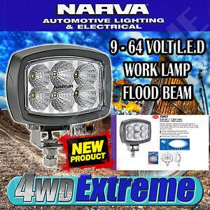 NARVA COMPACT LED WORK LAMP FLOOD BEAM LIGHT L.E.D SPREAD 12 & 24 VOLT 12V 72457
