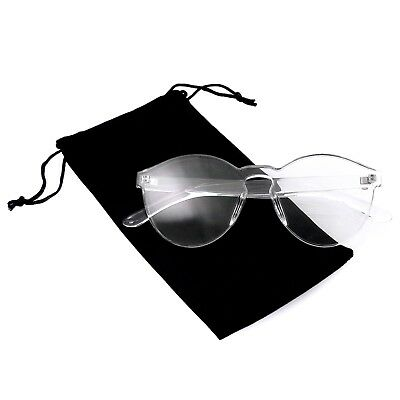 Colorful One Piece Rimless Transparent Sunglasses Women Tinted Candy (Sunglasses Candy Color)