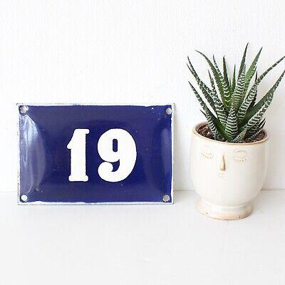 Vintage Bulgarian enamel house number - enamel sign - porcelain number