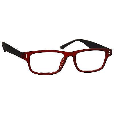 UV Reader Kurzsichtigkeit Entfernung Brille Herren Damen Gummierte Rot UVMR033