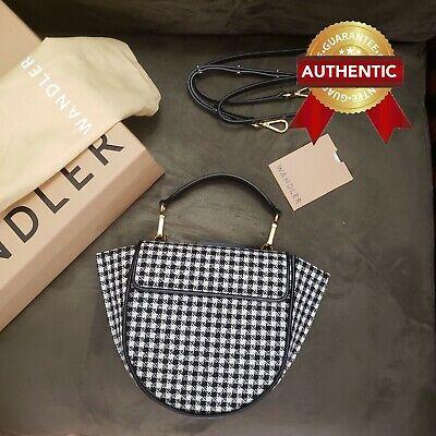 NEW Authentic WANDLER Hortensia Mini houndstooth-pattern / Crossbody