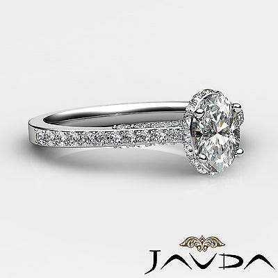 Circa Halo Bridge Accent Pave Oval Cut Diamond Engagement Ring GIA D VS2 1.15Ct 2