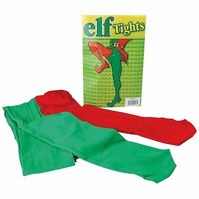 e Strümpfe Hofnarr Rot Grün Pantomime Grotte Kleid (Weihnachtself Strümpfe)
