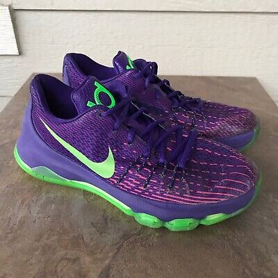 Nike KD 8 GS 'Suit' Youth Basketball Shoes Size 7Y Purple Athletic Sneakers