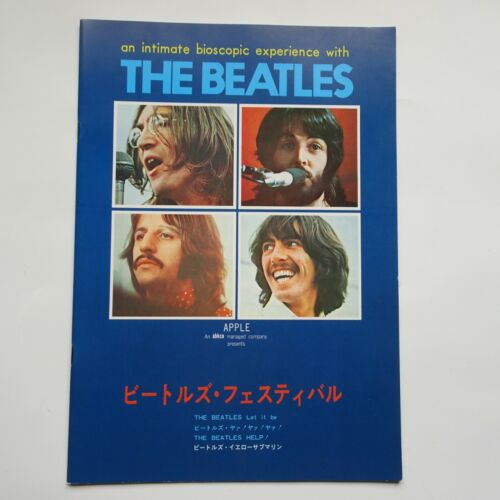 The BEATLES Festival 1976  Japanese Program A4 yellow submarine + 3 movies