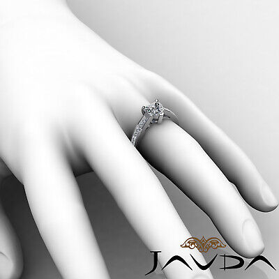 4 Prong Channel Setting Womens Heart Cut Diamond Engagement Ring GIA F VS2 1.5Ct 4