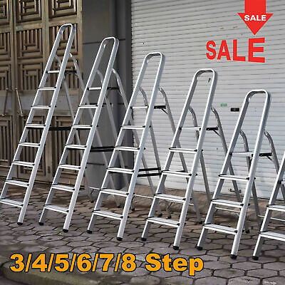Aluminium Step Ladder 3 4 5 6 7 8 Step Stepladder DIY Tools Lightweight Platform