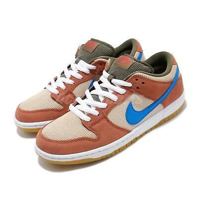 Nike SB Dunk Low Pro Corduroy Dusty Peach Blue Brown Men Skate Shoes BQ6817-201 Dunk Low Skate Shoes