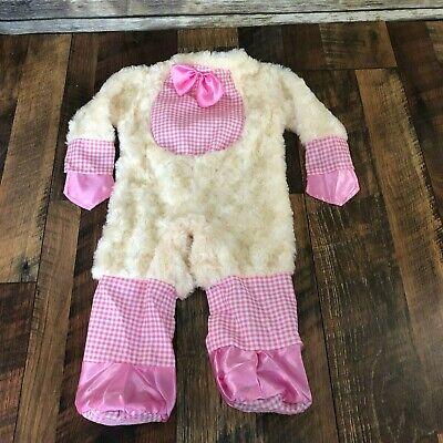 Lucky Lil Lamb Costume Baby Sheep Jumpsuit Cute Animal Noah Ark Baby 0-6 Mo