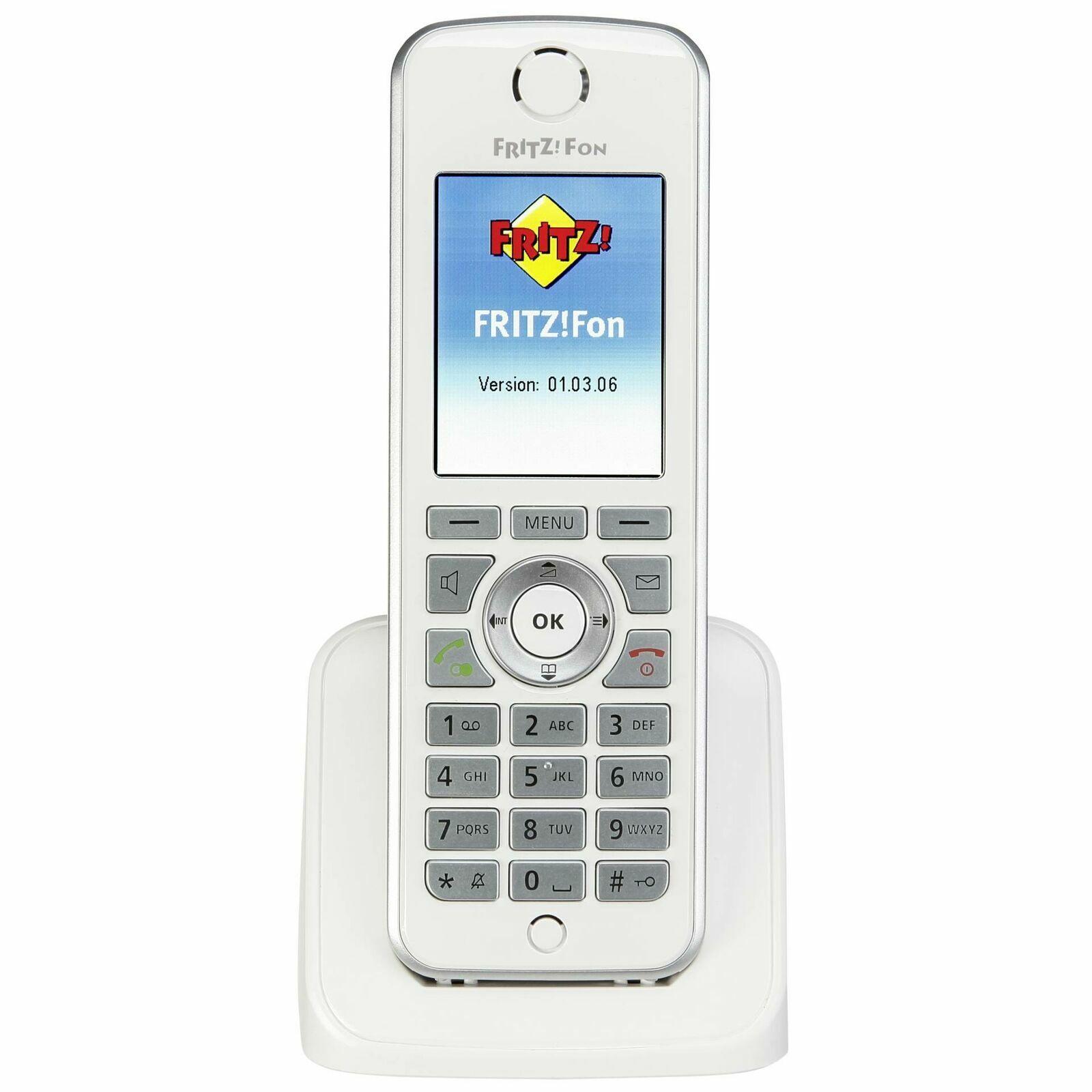 AVM FRITZ!Fon C4 Telefon Weiß, DECT für FritzBox 7580 7590 Farbdisplay 20002624