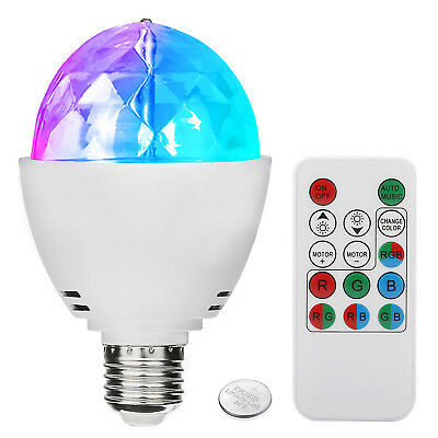 3W E27 Disco Ball Lamp RGB Rotating LED Sound Activated Party Strobe Lights - Led Disco Ball