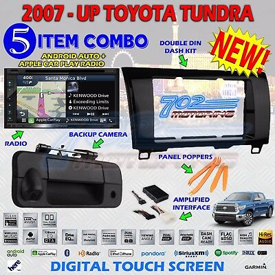 KENWOOD GPS DOUBLE DIN BT STEREO BACKUP CAMERA TOYOTA TUNDRA RADIO DASH KIT A4