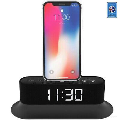 Azatom Chronos iPhone X 8 8+ 7 6 5 Dock Speaker Radio Alarm iPod Touch Black
