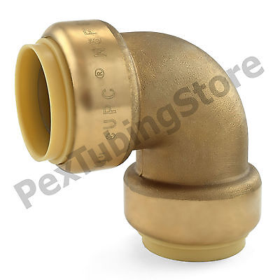 1 Sharkbite Style Push-fit Push To Connect Lead-free Brass Elbow Fitting