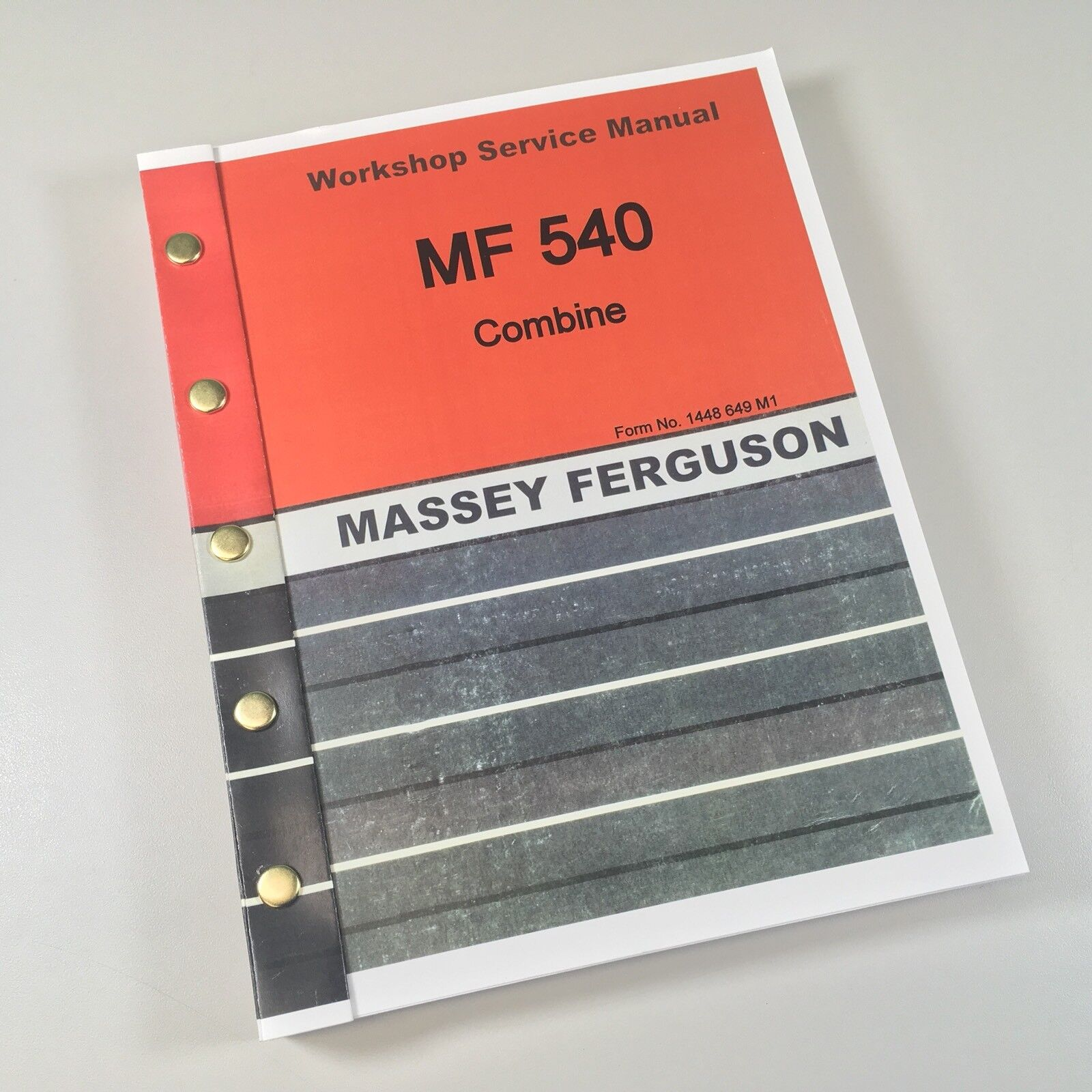 Massey Ferguson 540 Combine. Service Manual. Complete Service/Repair/Overhaul  Manual. Covers all years & serials of this model