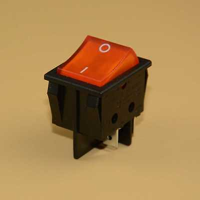 New Canal R Series Orange Illuminated Rocker Switch Double Pole 20a 16a 4 Pin