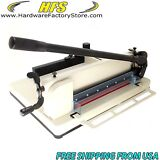 """HFS Heavy Duty Guillotine Paper Cutter 17"""" Commercial Metal Base A3/A4 Trimmer"""