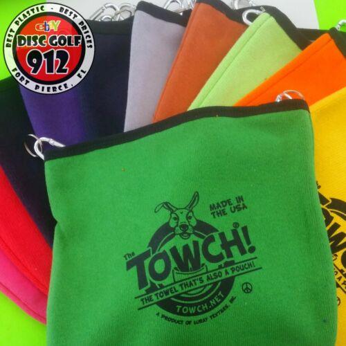 Disc Golf TOWCH - The Original Towel Pouch (brand new w/clips, pick your color)