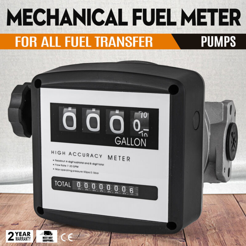 """1"""" Mechanical Fuel Meter for All  Fuel Transfer Pumps  5-30 GPM Flow Rates"""