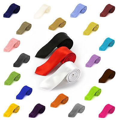 Krawatte schmal 5cm Schlips Binder verschiedene Farben Mode Trend Style Satin Krawatte