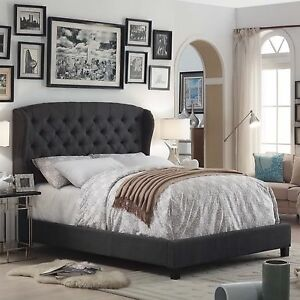 Queen Upholstered Panel Bed - Charcoal NEW IN BOX