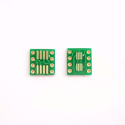 20 Pcs Sop8 To Dip8 Pcb Board Converter So Soic Ssop Tssop Msop Adapter Gold B24