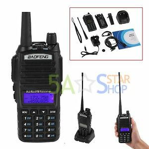 Baofeng UV-82 Walkie Talkie Dual Band Two-Way Radio UHF VHF Radio + Earpiece UK