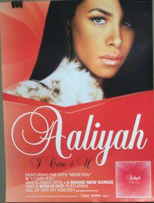 Aaliyah  - I CARE 4 U  - Promo Poster  [2002] VG++