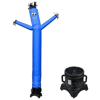 Mounto 10ft Sky Puppet Inflatable Dancer With Blower Complete Set Blue