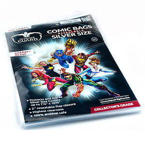 Ultimate Guard: 100 Resealable Silver Age Size Comic Book Storage Bags