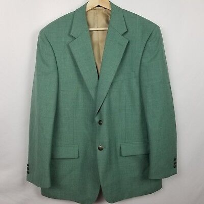 Blacker by Stanley Blacker Mens Coat VTG Size 42R Green Poly Wool Blend EUC