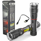 Nebo Slyde King 6434 Rechargeable LED Flashlight Work Light Adjustable Zoom