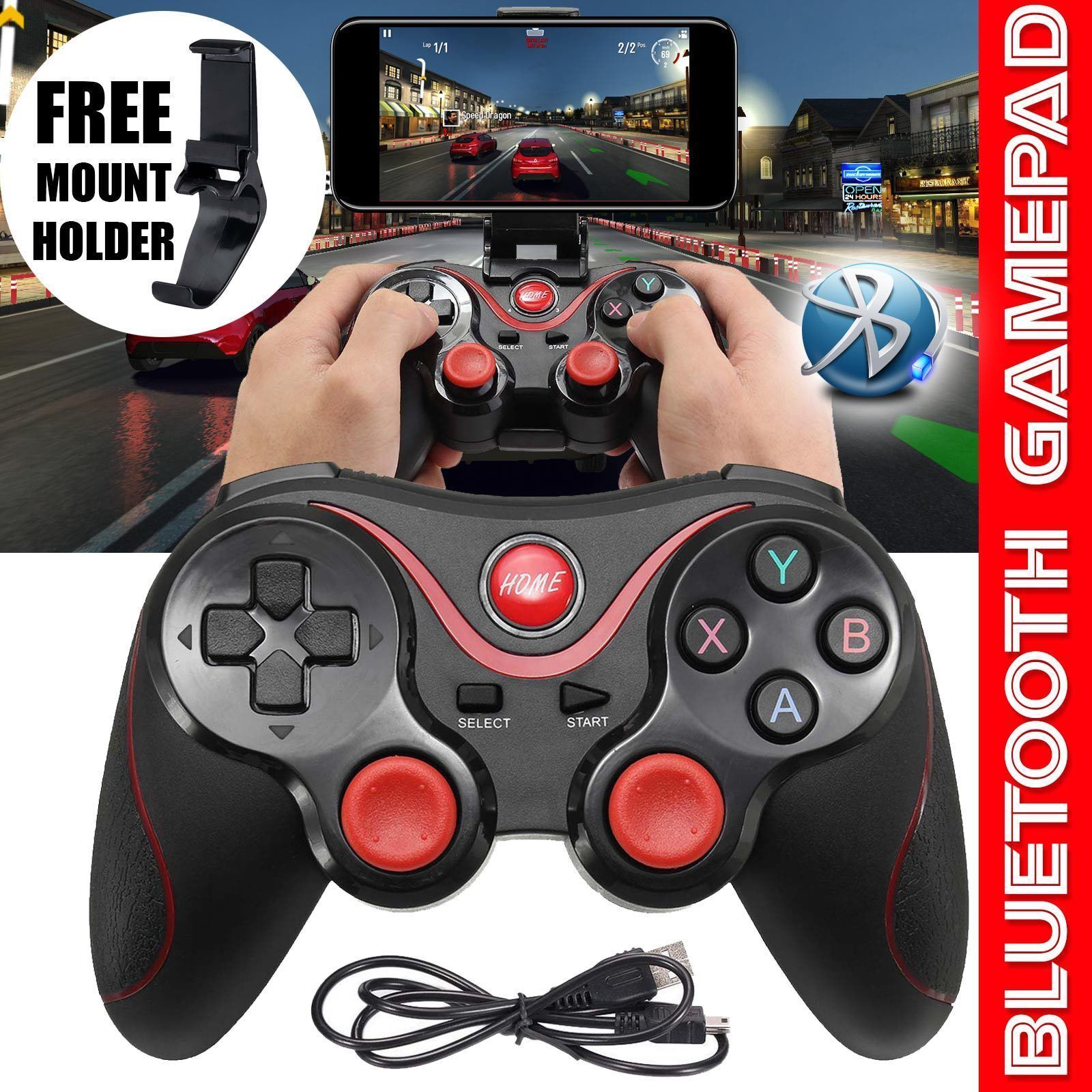 T3 Smart Phone Game Controller Wireless Joystick Bluetooth 3.0 Android Gamepad Controllers & Attachments