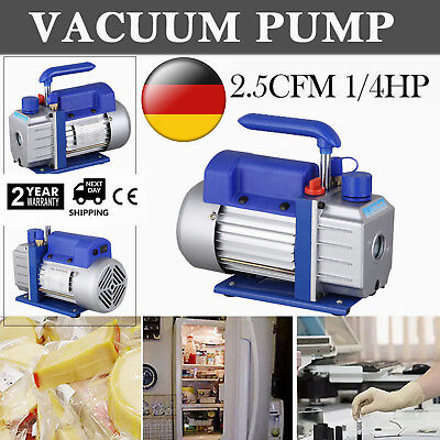 2.5cfm Rotary Vane Vacuum Pump Single Stage Hvac 14hp Air Conditioning Ac Deep