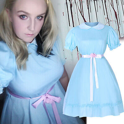 Blue Halloween Costumes (Halloween Costume The Shining Lisa & Louise Burns Grady Twins Blue Lolita)