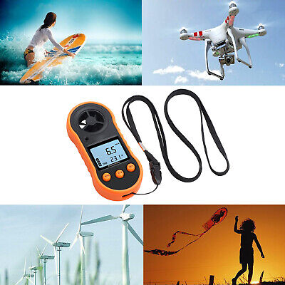 Digital Anemometer Handheld Wind Speed Meter Thermomoter Kit For Sailing Surfing