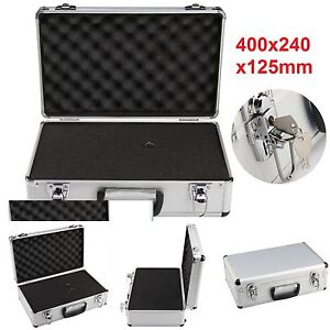 Large Hard Aluminium Flight Case Foam Camera Photography Carry Storage Tool BOX