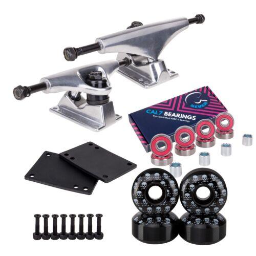 Cal 7 129mm Skateboard Trucks w/ 52mm 99A Graphic Wheels, Bearings, and Hardware