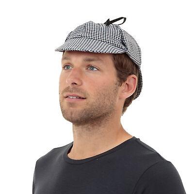 Erwachsene Herren Sherlock Holmes Detektive Deerstalker Kostüm Hut Zubehör - Sherlock Holmes Hut Kostüm